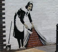 banksy graffiti art | coveted piece of modern art: Art terrorist Banksy's paintings' are ...