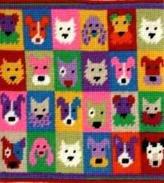 Pop Art Puppies - Strik og broderi - garn, kits og designs i Sommerfuglen