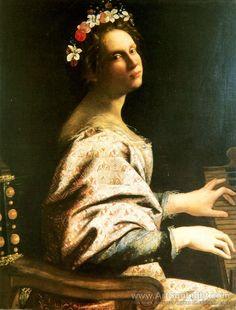 GENTILESCHI Artemisia - Italian (Rome 1593 -1652) - St-Cecilia (1620)