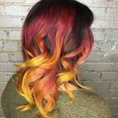 """Fiery hair   - William Manoski (@wilociraptor) on Instagram: """"Starting the day off bright! Thanks @lovelygiraffe for always having awesome hair. @hairpolice.mpls…"""""""