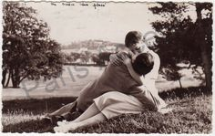 Vintage sweetheart Postcard of a couple by ParisAccentAntiques