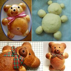 This Teddy Bear Bread is a Must Try for Holidays.