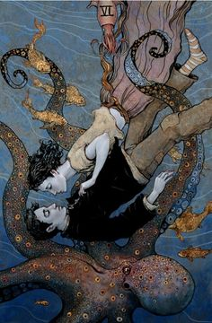 Tarot - The lovers by Bluefooted  http://inkbook.tumblr.com/post/50653164120/theartofanimation-bluefooted?utm_content=buffer9370e&utm_medium=social&utm_source=pinterest.com&utm_campaign=buffer