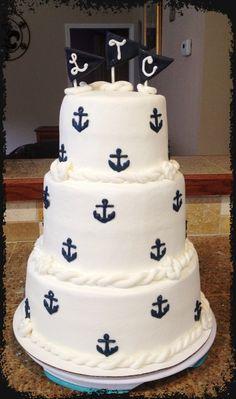 Nautical Cake- Bake Your Day, LLC, Alexandria, LA- www.facebook.com/bakeyourdayllc