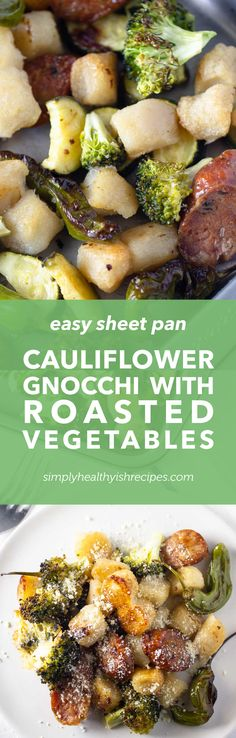 A healthy sheet pan gnocchi and vegetable recipe ready in just under 30 minutes! It is the easiest and crispy Trader Joe's cauliflower gnocchi perfect for meal prep or dinner! Save this crispy gnocchi recipe for later! Easy Homemade Recipes, Vegetarian Recipes Easy, Vegetable Recipes, Easy Dinner Recipes, Simple Recipes, Delicious Recipes, Dinner Ideas, Best Meal Prep, Paleo