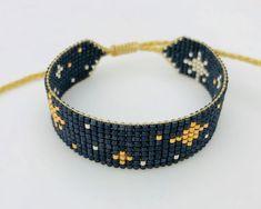 Miyuki T9 Bead Embroidery Jewelry, Beaded Embroidery, Loom Beading, Weaving, Beaded Bracelets, Beads, Crafting, Diy, Embroidery Bracelets