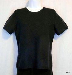 Impluse Casual Polyacryl / Nylon Pullover Sweater Womens Size S 6  -  8 Navy Blue Crew Neck Short Sleeve NEW www.bevsthisnthatshop.com