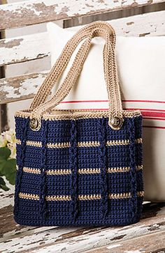 Ravelry: Anchors Aweigh Tote by Kathy Olivarez