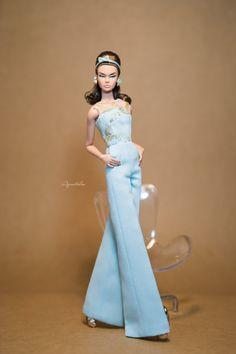 SKY DELIGHT- Jumpsuit for Fashion Royal FR2 & same size 12'' Fashion Doll