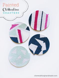 You may have seen me work on these cute clothesline coasters on my instagram account @oheverythinghandmade, I have a few coasters at home, one set is from theCoastal which is hand painted...