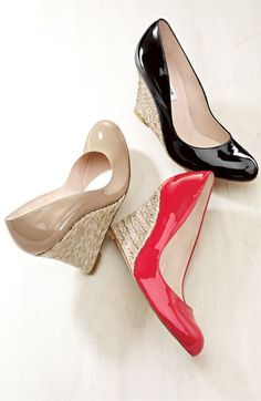 Channel Kate Middleton with these LK Bennett wedges for dressing up or dressing down. Buy Shoes, Me Too Shoes, Nike Shoes, Look Fashion, Fashion Shoes, Pumps, Heels, Shoe Boots, Shoes Sandals