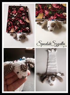 Crochet dog bookmark