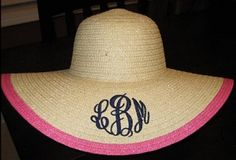 monogrammed floppy hat...I never got around to ordering this before our honeymoon- but I'll def get it for this summer's trips!