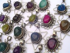 Colorful Assorted Agate Pendantshttp://www.wholesaleperuvianjewelry.com/