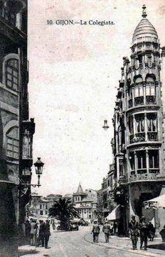 Antigua calle calvo sotelo ahora avenida de manuel for Jardines de la reina gijon