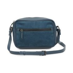 Crossbody bag in teal suede leather // Markberg