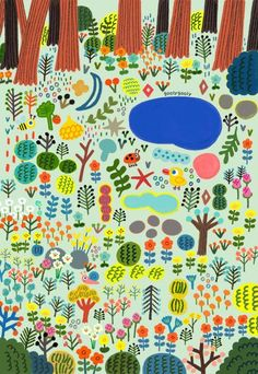 goolygooly Plant Illustration, Cute Illustration, Murals For Kids, Art For Kids, Collaborative Art, Naive Art, Illustrations And Posters, Pattern Wallpaper, How To Draw Hands