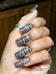 Zebra water marble gradient nails using Pure Ice Shore Bet, OPI Taupe-Less Beach, I Sao Paulo Over There, & Get in the Espresso Lane Opi Taupe Less Beach, Fabulous Nails, Amazing Nails, Marble Nails, Hot Nails, Types Of Nails, Beautiful Nail Art, Nail Art Galleries, Pretty Nails