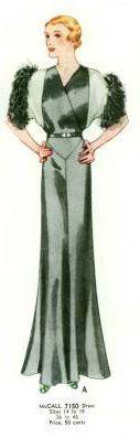 McCall 7150   ca. 1932 Evening Dress