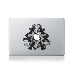 Escher Flying Fish Macbook Sticker #design #macbook #macbookstickers #pimpmymacbook #decals #stickers #vinyl #DIY #laptop #escher #flyingfish #mandalas