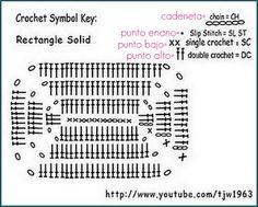 Crochert Solid Granny Rectangle - Chart