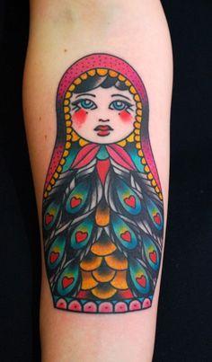 Russian Nesting Doll Tattoo by Miss Arianna, Skinwear Tattoo