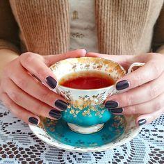 Teal and gold royal albert regal series tea cup ❤