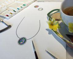 Sexta como  amo! #opalnecklace #jewelry #jewelryilustration #efeitolure #lovemyjob