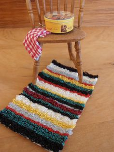 How to make a dollhouse rug that will look like one of Grandma Lagace's