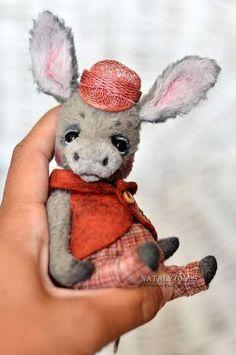 NatalyTools donkey teddy toy by Natalia Tolstykina
