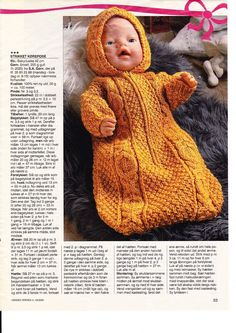 Crochet baby sleep sack free hats 68 Ideas for Knitted Doll Patterns, Knitted Dolls, Baby Knitting Patterns, Knitting Dolls Clothes, Doll Clothes, Baby Born Clothes, Knitting Books, Baby Kind, Baby Hats