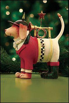 Krinkles by Patience Brewster - Beagle Bugler Figure (Retired)