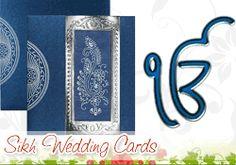 Sikh/Punjabi wedding invitation cards with exquisite designs..