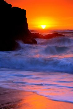 Sunset At Montara State Beach