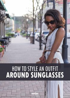 This summer, don't wear the same pair of sunglasses with every outfit – change things up by styling your look around your shades instead. Find out how at #MeijerStyle. @candacemread