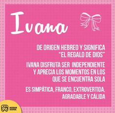 significado de ivana Baby Girl Names Uncommon, Baby Girl Names Unique, Cute Baby Names, Boy Names, Biblical Names, Baby Dedication, Dear Mom, The Best Is Yet To Come, Baby Princess