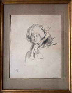 Sir William Rothenstein Elègante 1894 école anglaise collection Corbin Alsace