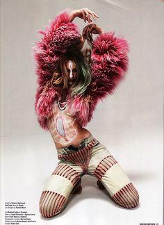 #Fur #fashion #pink