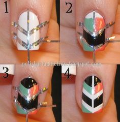 nail art designs | 12 Amazing DIY Nail Art Designs - Fashion Diva Design- probably do different colors