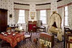 The nursery bedroom at Osborne, containing dolls house and skittles