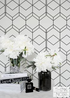 Simple Geometric Removable Wallpaper / Self Adhesive / Regular Wallpaper / Wall Mural / Bathroom Wallpaper Geometric, Geometric Removable Wallpaper, Wallpaper Wall, Wallpaper Paste, Half Bathroom Wallpaper, Classy Wallpaper, Bathroom Vinyl, Kitchen Wallpaper, Modern Wallpaper