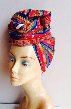 African Print head wrap / ankara headwrap /african by AdinkraExpo