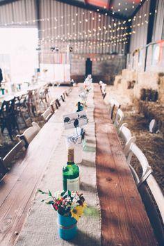 DIY+Wedding+in+a+Cow+Shed:+Debbie+