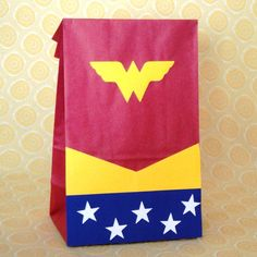 Wonder Woman Birthday Party Treat Sacks Comic Book Theme Goody Bags by jettabees on Etsy. $12.50, via Etsy.