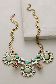Tasseled Gems Necklace #anthropologie