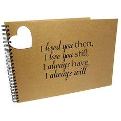 A3/XL Square I Love You Still, Scrapbook, Card Pages, Photo Album, Keepsake, Landscape (A3 (Kraft Pages))