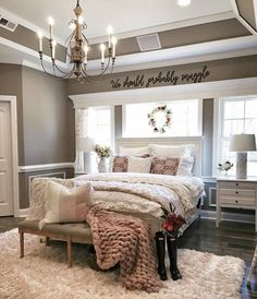 Are you searching for pictures for farmhouse bedroom? Check out the post right here for very best farmhouse bedroom inspiration. This amazing farmhouse bedroom ideas will look absolutely excellent. Farmhouse Master Bedroom, Cozy Bedroom, Dream Bedroom, Home Decor Bedroom, Modern Bedroom, Bedroom Ideas, Contemporary Bedroom, Bedroom Designs, Bedroom Red