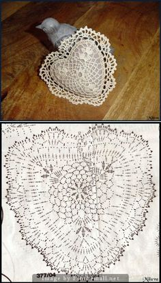 30 ideas for crochet heart sachet valentines Filet Crochet, Crochet Chart, Thread Crochet, Crochet Motif, Crochet Doilies, Crochet Flowers, Crochet Ornaments, Crochet Snowflakes, Doily Patterns