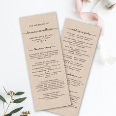 This printable wedding program template is available as an INSTANT DOWNLOAD for you to edit in your browser using 'Templett', an easy to use web app. You can even try it out before you buy! ***No files to download or fonts to install*** ★TRY BEFORE YOU BUY – FREE DEMO HERE:
