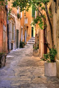 Small street at Saint Tropez, Provence-Alpes-Côte d'Azur, France- I want to discover all the little streets in Europe Saint Tropez, Places Around The World, The Places Youll Go, Places To Visit, Around The Worlds, Wonderful Places, Beautiful Places, Beautiful Streets, St Tropez France